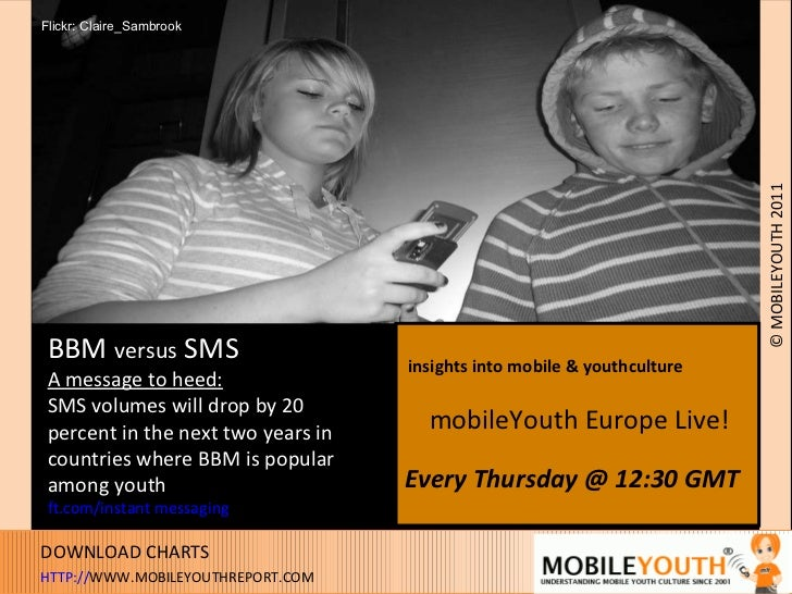 BBM  versus  SMS A message to heed: SMS volumes will drop by 20  percent in the next two years in countries where BBM is p...