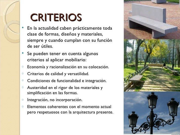 Mobiliario urbano for Mobiliario espacio publico