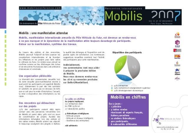 www.vehiculedufutur.com 03 89 32 76 44 Au travers des ateliers et des rencontres, Mobilis poursuit l'objectif de faire ava...