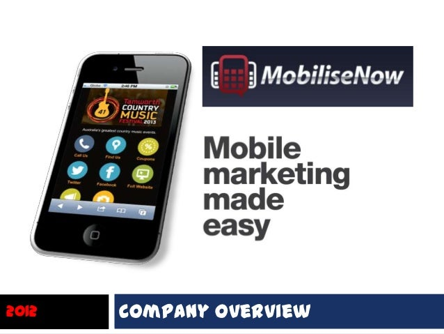MobiliseNow presentation on converting websites to mobile friendly sites