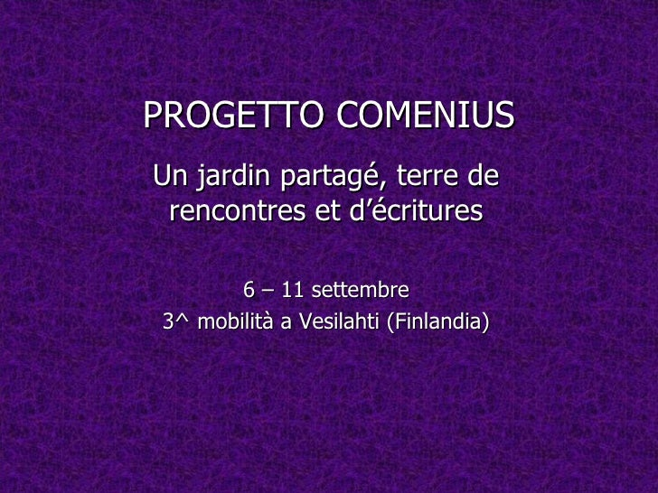 Progetto Comenius - Mobilità in Finlandia - settembre 2011