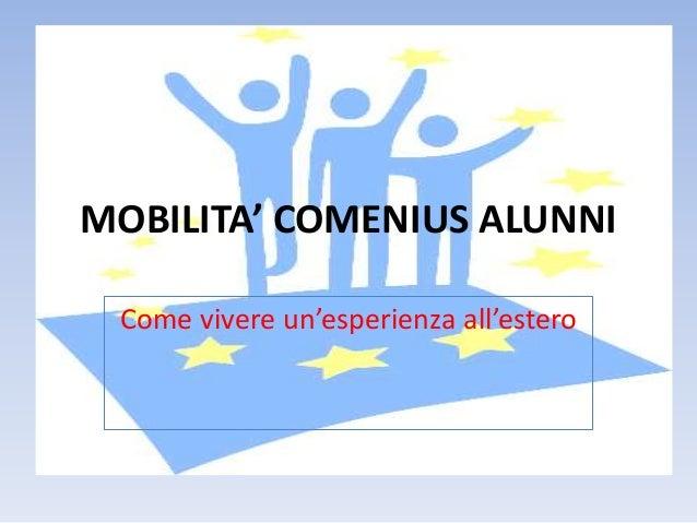 Mobilita' comenius alunni