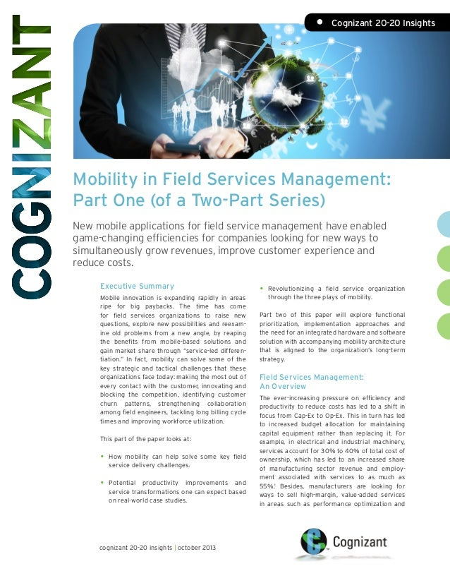 Mobility in Field Services Management: Part One