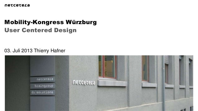 UCD, Mobility Kongress Würzburg 3. Juli 2013