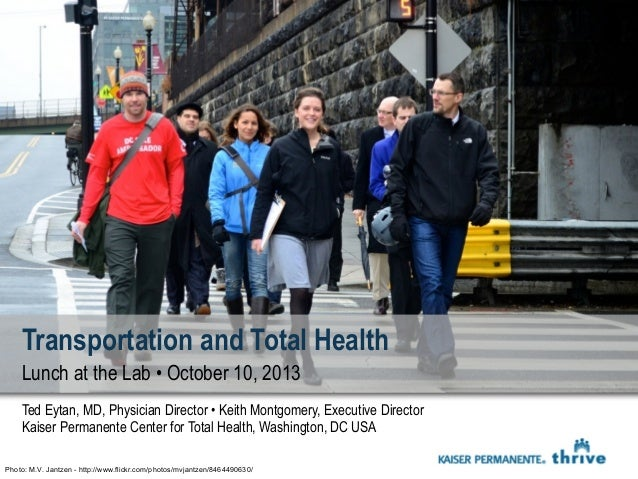 Transportation and Total Health - Arlington Mobility Lab Lunch and Learn