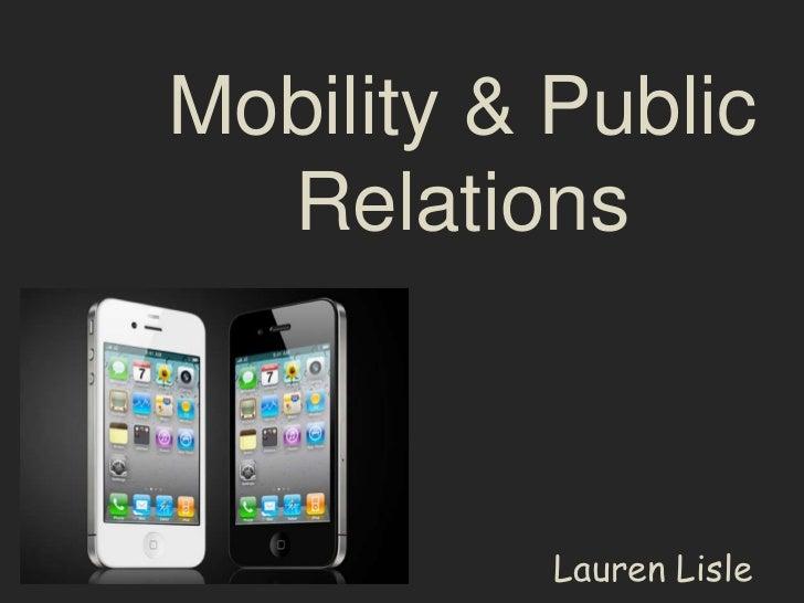 Mobility & Public  Relations           Lauren Lisle
