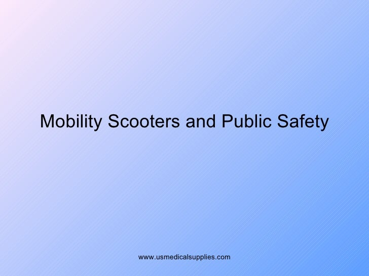 Mobility Scooters And Public Safety