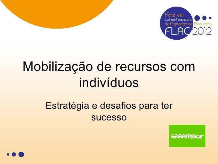 Mobilização de recursos com         indivíduos   Estratégia e desafios para ter              sucesso