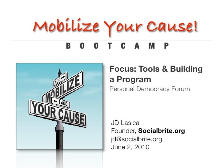 Mobilize your cause: Tools