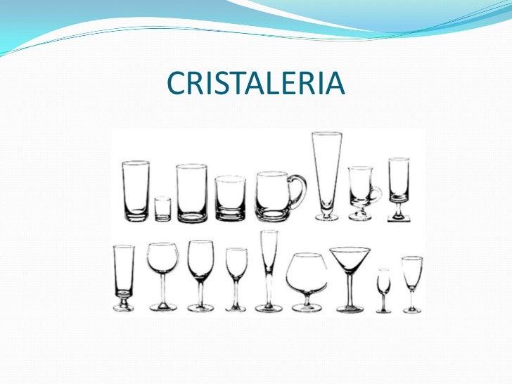 Mobilliario y equipo for Cristaleria para bar