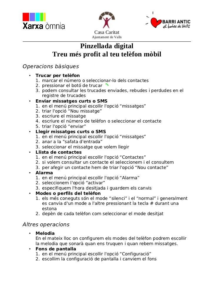 Casa Caritat                               Ajuntament de Valls                     Pinzellada digital             Treu més...