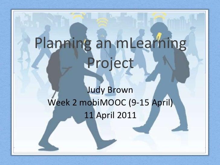 Mobimooc Week 2 - Planning mLearning