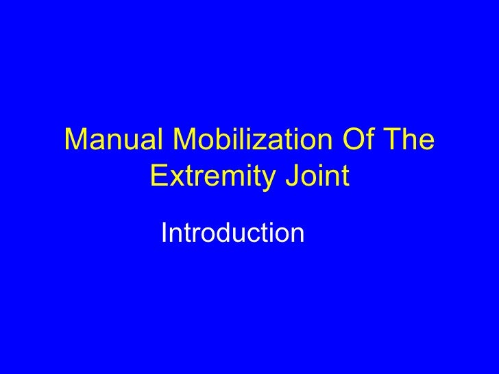 Mobility Intro Lect I