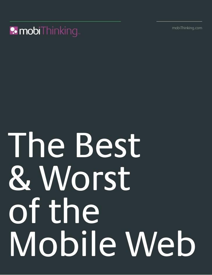 mejores y peores sitios moviles en 2008