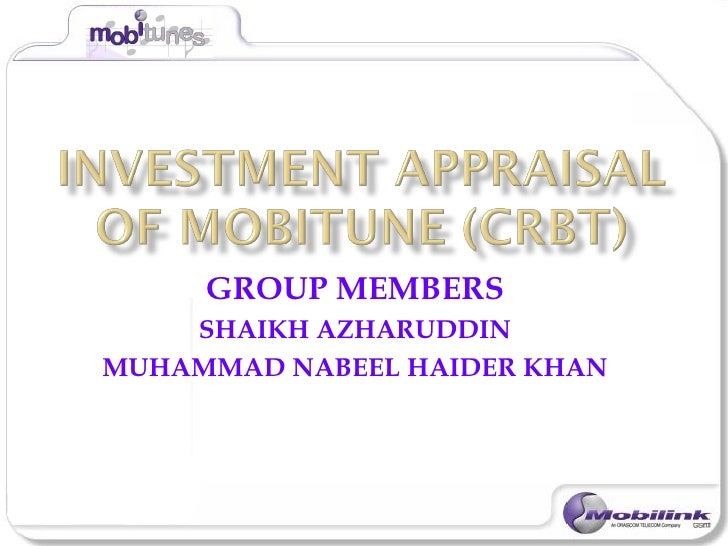 Mobitune investment appraisal