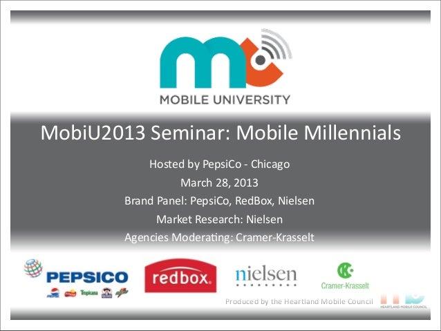 MobiU2013 Seminar: Mobile Millennials - Presentation