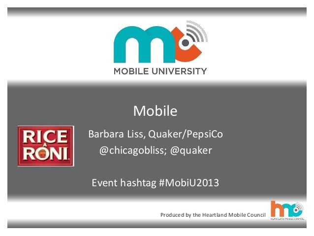 PepsiCo Rice A Roni Pitch Competition Background at the #MobiU2013 Summit, 9/26 in Chicago