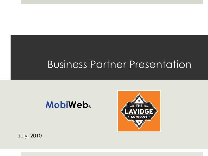MobiWeb Presentation