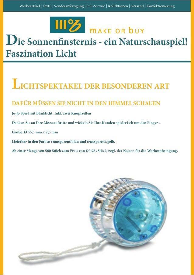 Werbeartikel | Textil | Sonderanfertigung | Full-Service | Kollektionen | Versand | Konfektionierung Die Sonnenfinsternis ...