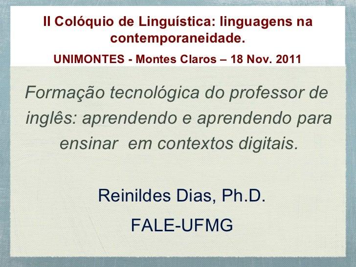 Linguagem na Contemporaneidade - UNIMONTES