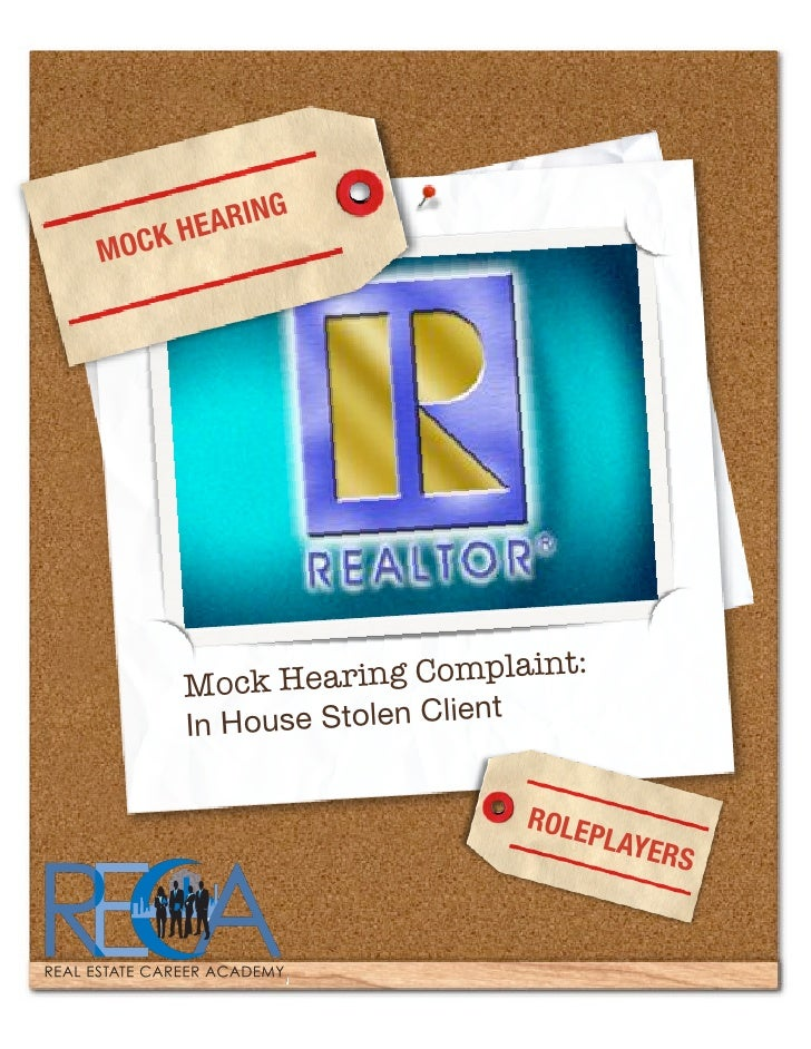Matthew Rathbun's Mocking Hearing Handout