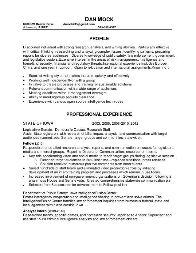 dan mock resume