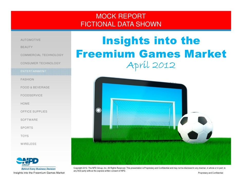 Mock Report Insights Into The Freemium Games Market