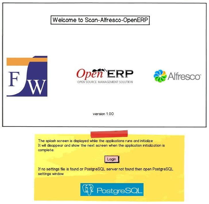Mockup OpenERP - Alfresco