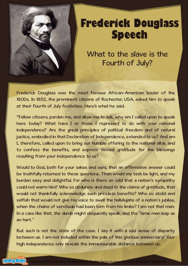 what to the slave is the fourth of july essay