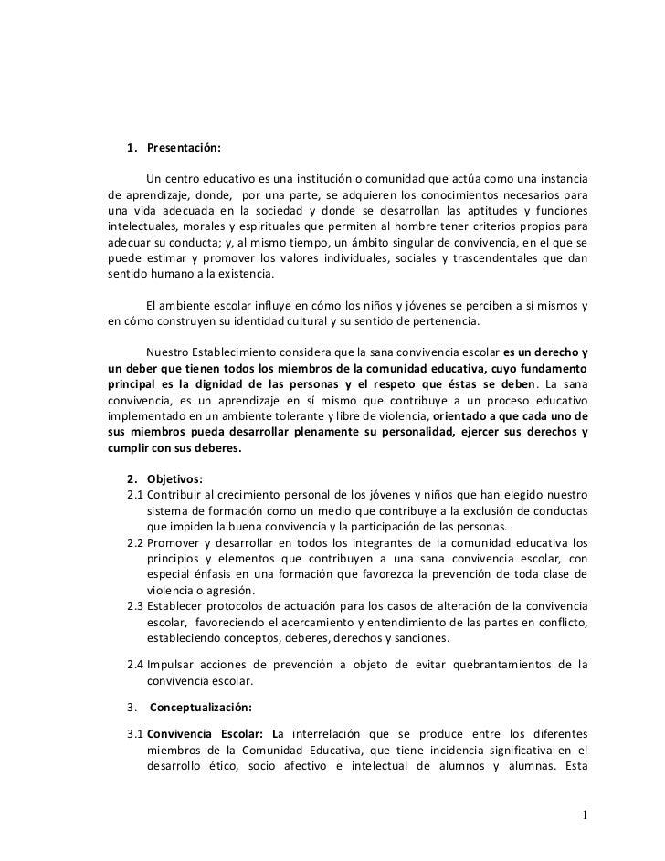 Reglamento Convivencia 2011-2012