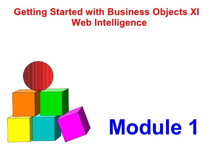 Module 1 Getting Started with Business Objects XI Web Intelligence