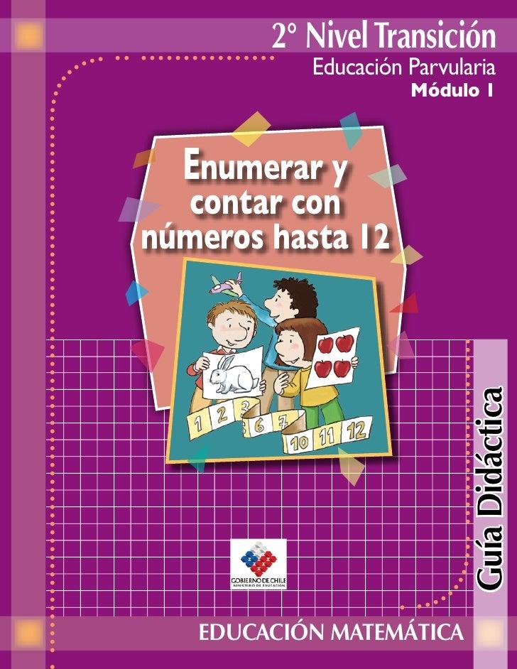 2° Nivel Transición            Educación Parvularia                      Módulo 1      Enumerar y   contar con números has...