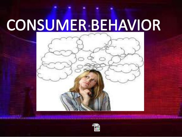 CONSUMER BEHAVIOR A typical Con'B template is: NEED RECOGNITION INFORMATION SEARCH EVALUATION OF ALTERNATIVES PURCHASE...
