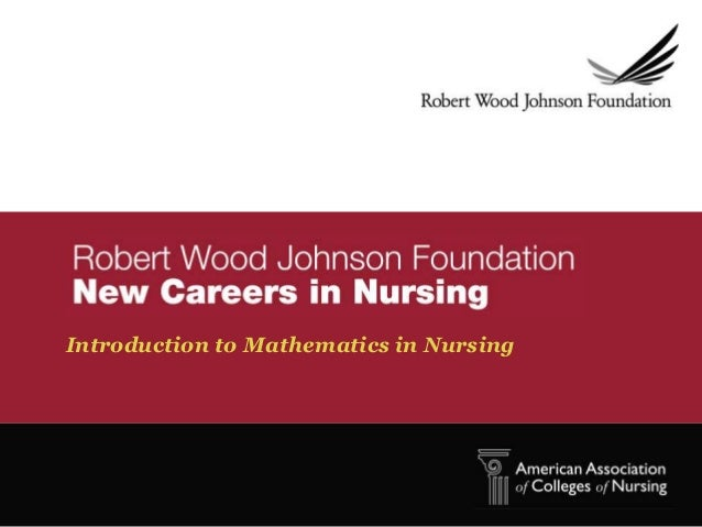 Introduction to Mathematics in Nursing
