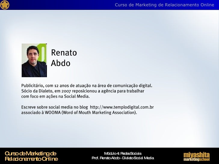 Curso de Marketing de Relacionamento Online