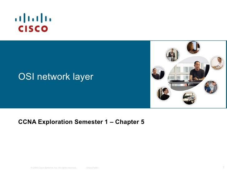 OSI network layer CCNA Exploration Semester 1  – Chapter 5