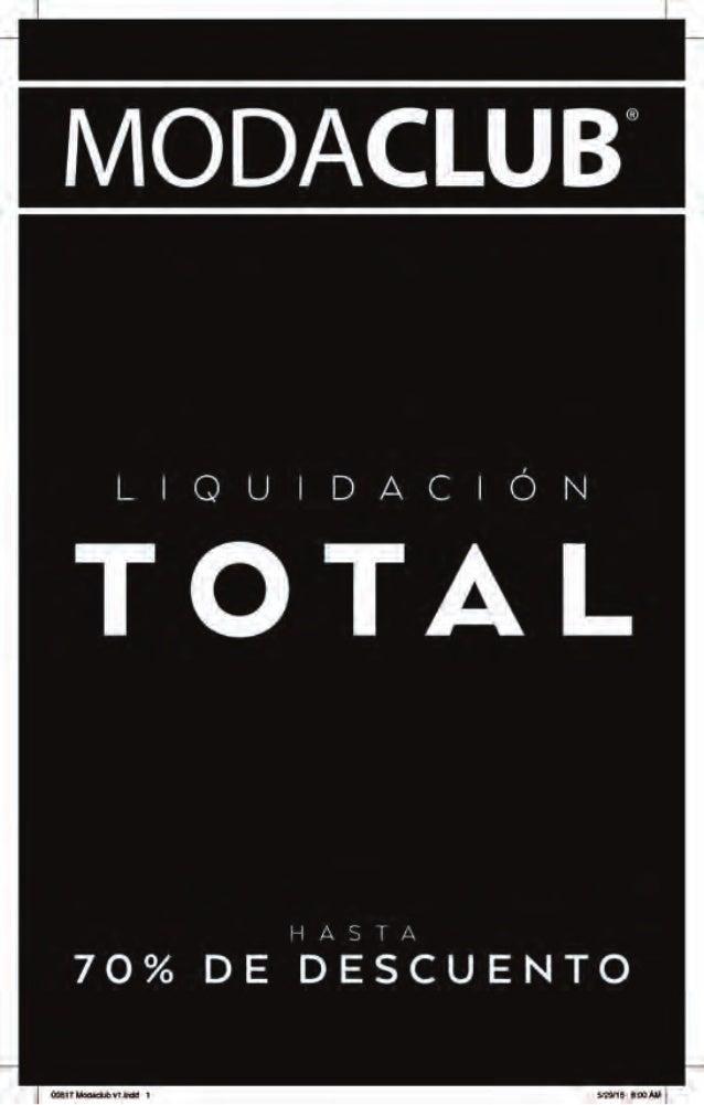 "MODACLU B""  LIQUIDACIÓN  TÓTAL  70% DE BESÏZUENTO"