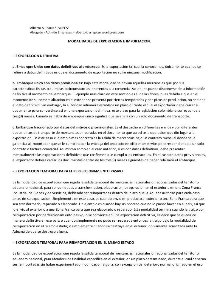Alberto A. Ibarra Silva PCSE           Abogado - Adm de Empresas. - albertoibarrapcse.wordpress.com                       ...