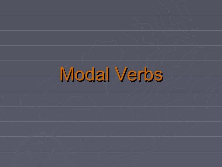 English Modal verbs en español