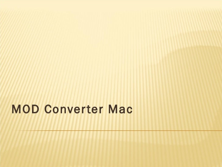 Mod converter mac