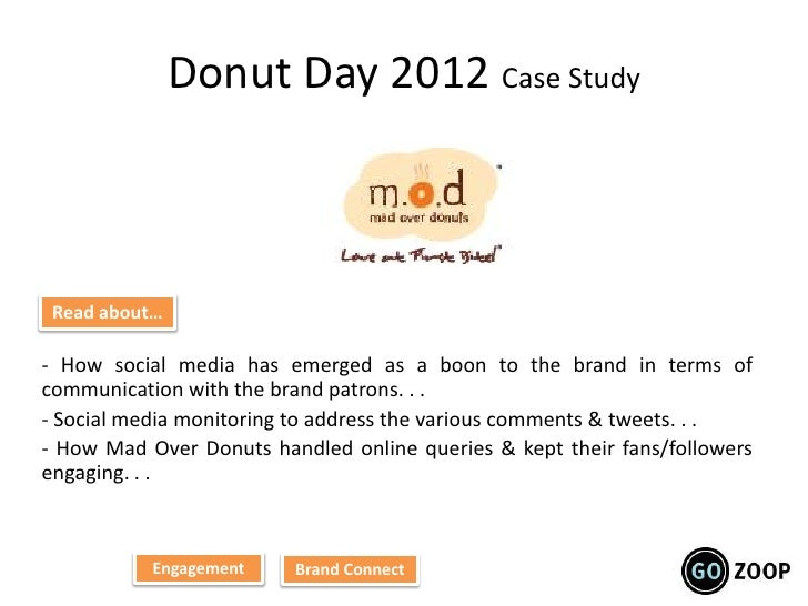 Donut Day 2012 Case Study Read about…- How social media has emerged as a boon to the brand in terms ofcommunication with t...