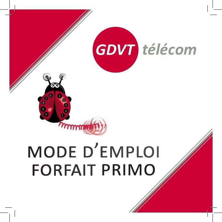 Mode d'emploi GDVT Télécom