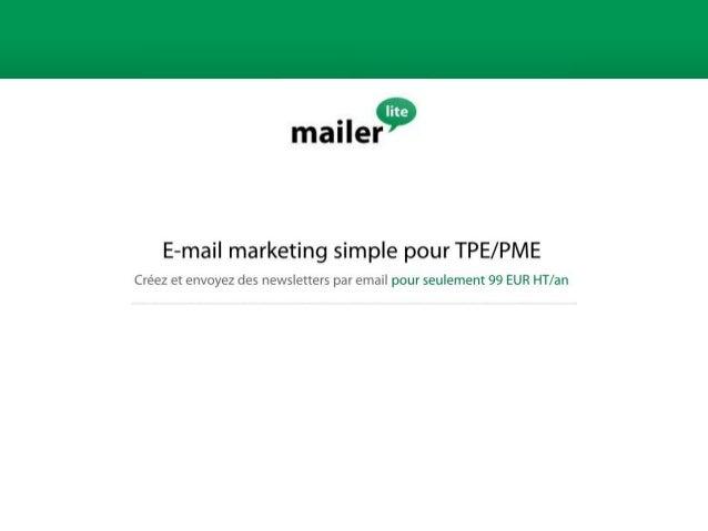 Mailerlite                Email Marketing: Chiffre & Constat    - 74% des internautes préfèrent le canal e-mail pour recev...