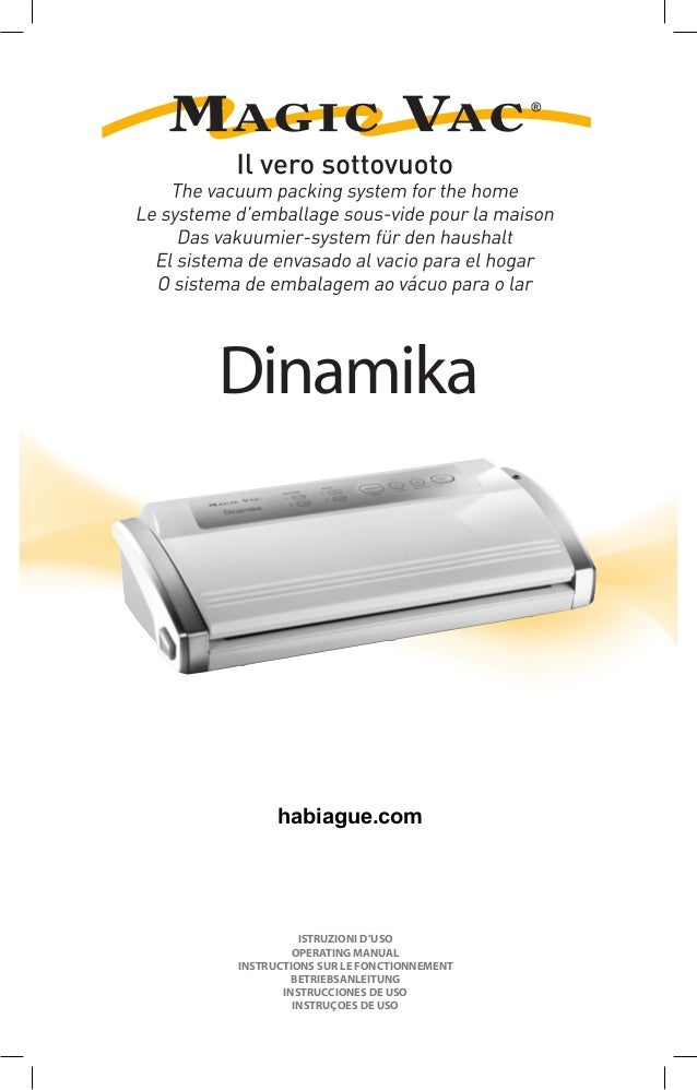 Dinamika ISTRUZIONI D'USO OPERATING MANUAL INSTRUCTIONS SUR LE FONCTIONNEMENT BETRIEBSANLEITUNG INSTRUCCIONES DE USO INSTR...