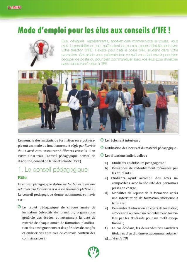8 Mode d'emploi pour les élus aux conseils d'IFE ! Elus, délégués, représentants, appelez cela comme vous le voulez, vous ...