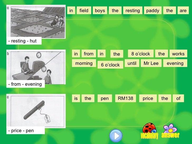 making sentences 5