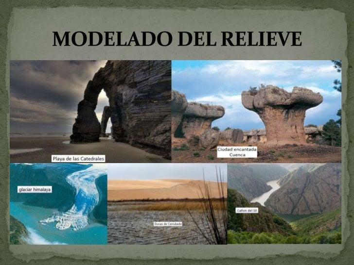 """ Con la siguiente actividad, se va a trabajar en la unidad didáctica """"el modelado del relieve """" en geología y biología de..."""