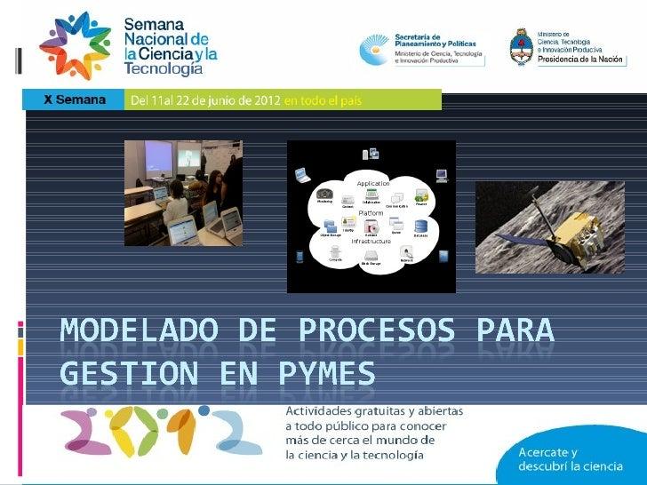 """Modelado de procesosProyecto de investigación Area Ingeniería de Software 29B134 """"Modelado de Requerimientos y Diseño de S..."""