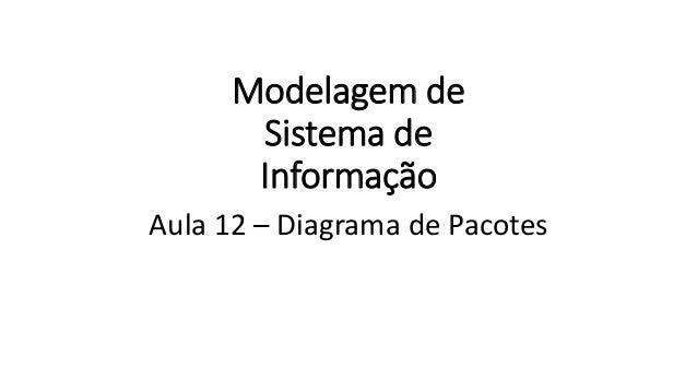 Modelagem de Sistema de Informação Aula 12 – Diagrama de Pacotes