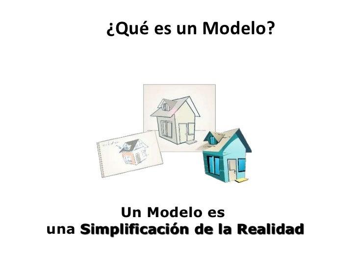 ¿Qué es un Modelo?        Un Modelo esuna Simplificación de la Realidad